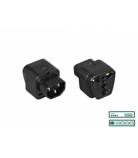Netio Pwr Adapter Uni To Iec-320